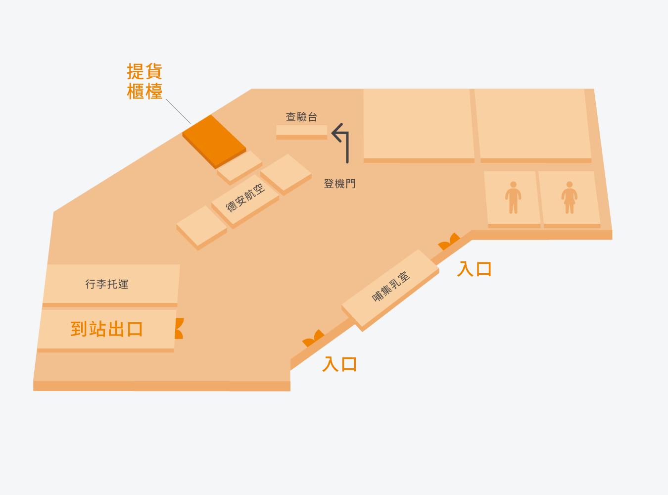 綠島機場平面圖