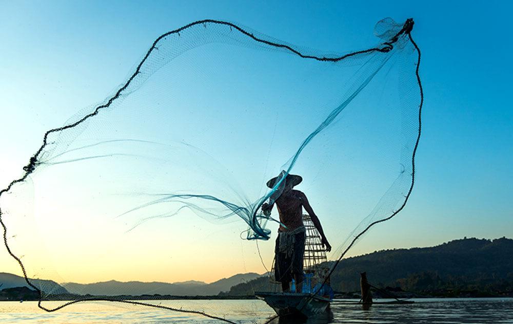 Phew! The fun of fishing