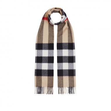 Burberry博柏利(精品) HALF MEGA CHECK 圍巾