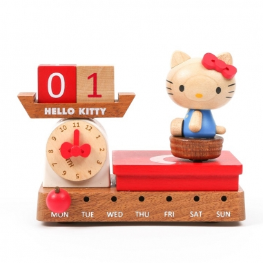 Jean Cultural知音文創 Hello Kitty體重計 / 音樂萬年曆