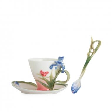 FRANZ法藍瓷 雋永長春杯盤湯匙組