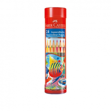 Faber-Castell輝柏 棒棒筒24色附水彩筆