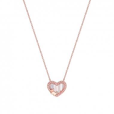 AGATHA璦嘉莎 Bling Heart玫瑰金項鍊