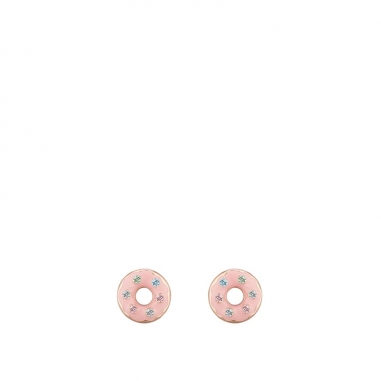 AGATHA璦嘉莎 Donuts玫瑰金耳環