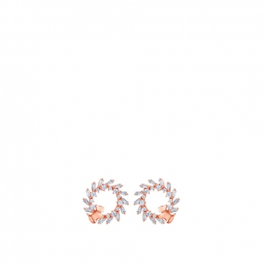 AGATHA璦嘉莎 Garland 玫瑰金耳環