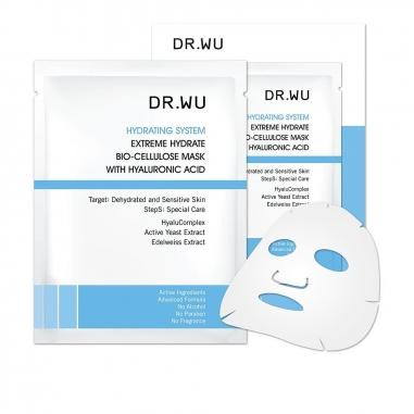 Dr.Wu達爾膚 玻尿酸保濕生物纖維面膜3片