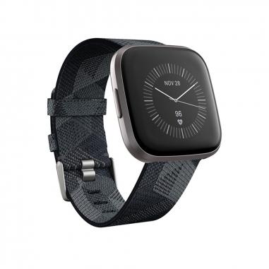 FitbitFitbit Fitbit Versa2灰框煙灰-編織紋錶帶