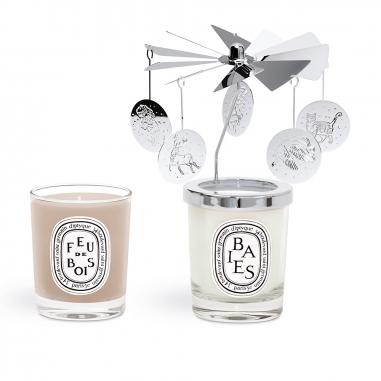 diptyquediptyque 《聖誕限定》旋轉燭罩及迷你香氛蠟燭2入禮盒特惠組