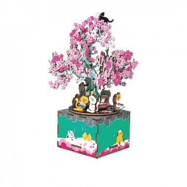 ROBOTIMEROBOTIME DIY手作音樂盒-櫻花樹下的約定