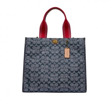 Coach蔻馳(精品) CANVAS TOTE 34 皮包