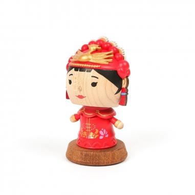 Jean Cultural知音文創 彈簧擺飾-中國新娘