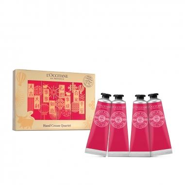 L'Occitane歐舒丹 《新年限定》乳油木玫瑰護手霜4支裝特惠組