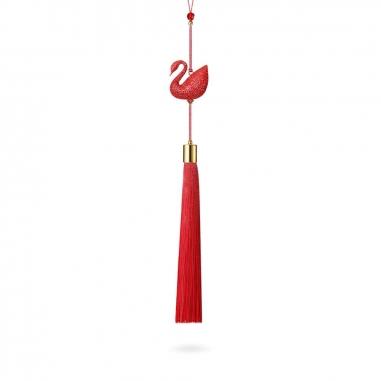 Swarovski施華洛世奇 密鑲紅天鵝掛飾