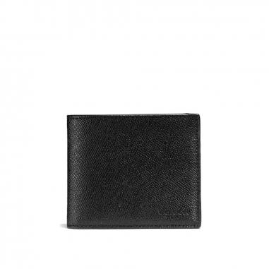 Coach蔻馳(精品) COMPACT ID WALLET 皮夾短夾