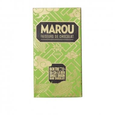 MarouMarou 檳椥 78%黑巧克力磚