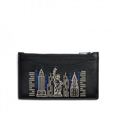Coach蔻馳(精品) ZIP CARD CASE名片夾信用卡夾