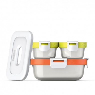 ZOKUZOKU ZOKU疊疊疊防漏保鮮盒三件組(含保冷片)