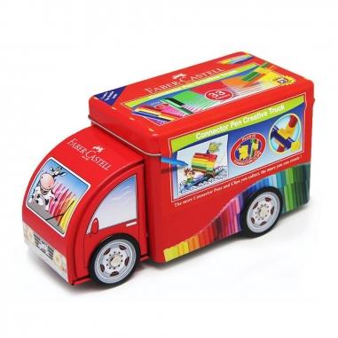 Faber-Castell輝柏 卡車造型彩色筆33色