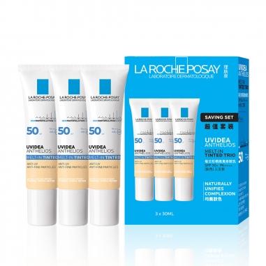 La Roche-Posay理膚寶水 全護清爽防曬液UVA PRO 潤色三支裝特惠組