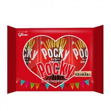 Glico固力果 Pocky 經典巧克力棒3盒入
