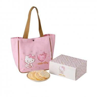 九利臻九利臻 Hello Kitty 雪米餅禮盒-粉色提袋款