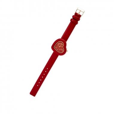 Sanrio三麗鷗 Hello Kitty 手錶-紅色心形款