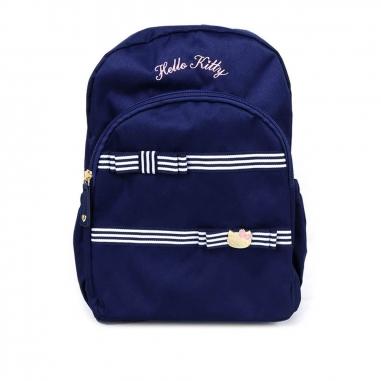 Sanrio三麗鷗 Hello Kitty 緞帶藍後背包