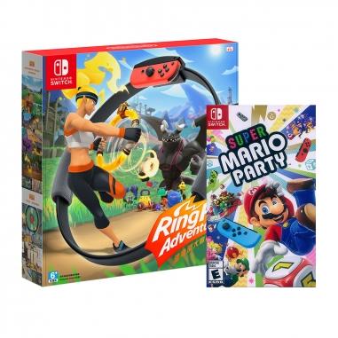 Nintendo任天堂 Switch 健身遊戲組合《健身環大冒險》+《超級瑪利歐派對》