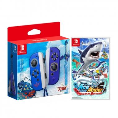 Nintendo任天堂 NS Joy-Con 左右手把禦天之劍款+NS遊戲《王牌釣手》