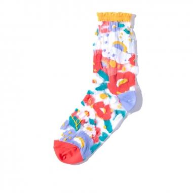 PAPERSELFPAPERSELF 透紗中筒襪-花園系列 (多色可選)