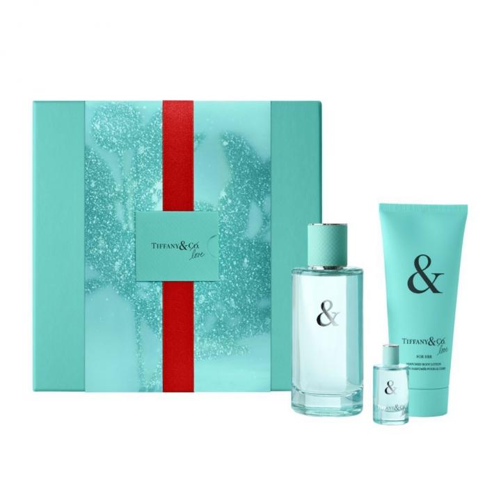 TIFFANY & CO. Tiffany & Love for Her Prestige Gift Set《聖誕限定》蒂芙尼Tiffany & Love 系列愛語女性淡香精特惠組