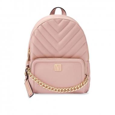 Victoria's Secret維多利亞的秘密 V字logo粉色迷你後背包