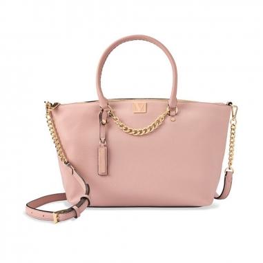 Victoria's Secret維多利亞的秘密 粉色女士大容量手提包