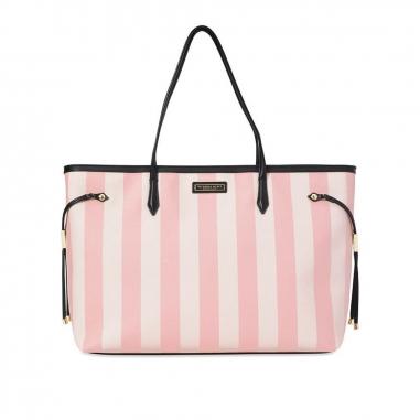 Victoria's Secret維多利亞的秘密 粉色條紋旅行包