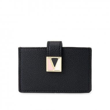 Victoria's Secret維多利亞的秘密 黑色大容量按扣卡包