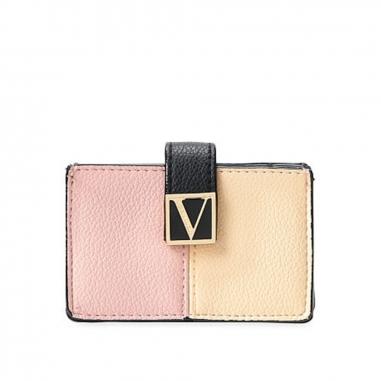Victoria's Secret維多利亞的秘密 撞色拼接女士卡包