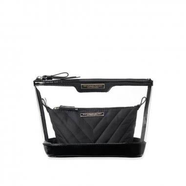 Victoria's Secret維多利亞的秘密 黑色化妝包2件套