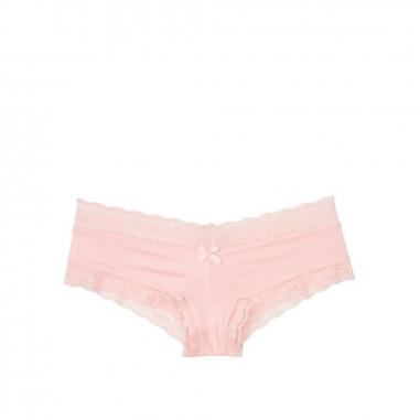 Victoria's Secret維多利亞的秘密 Logo蕾絲緞面中腰半包臀內褲