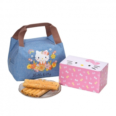 Sanrio三麗鷗 Hello Kitty 芝麻蛋捲禮盒花漾禮盒