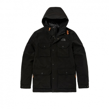 THE NORTH FACETHE NORTH FACE 北面男款黑色防水透氣連帽衝鋒衣