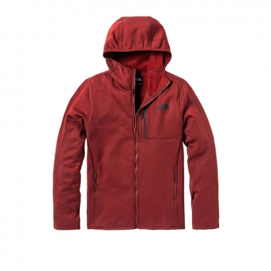THE NORTH FACETHE NORTH FACE 北面男款磚紅色戶外休閒抓絨連帽外套