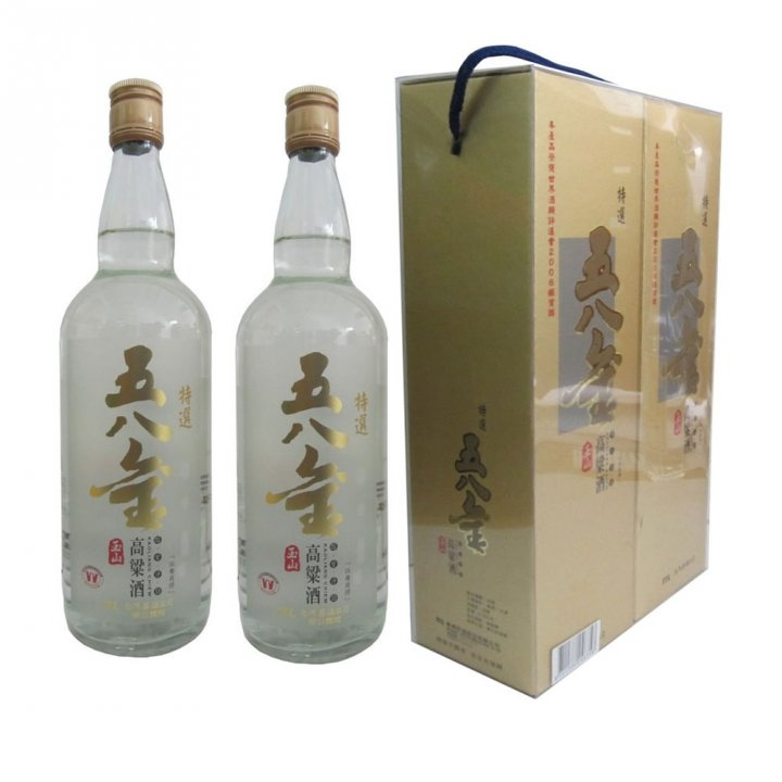 Taiwan Tobacco & Liquor 台灣菸酒 《滿額送玉泉小酒》玉山五八金高粱禮盒2瓶裝