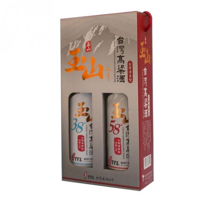 Taiwan Tobacco & Liquor 台灣菸酒 《滿額送玉泉小酒》玉山3年38度+58度高粱禮盒
