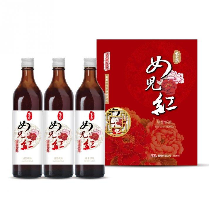 Taiwan Tobacco & Liquor 台灣菸酒 玉泉窖藏16年精釀陳紹女兒紅3入