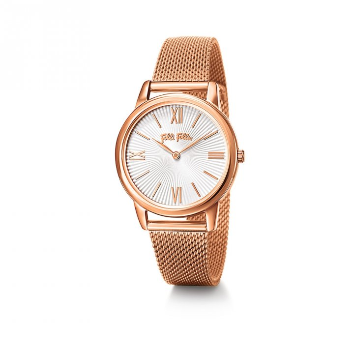Folli Follie芙麗芙麗 Match Point 鍍玫瑰金不鏽鋼腕錶