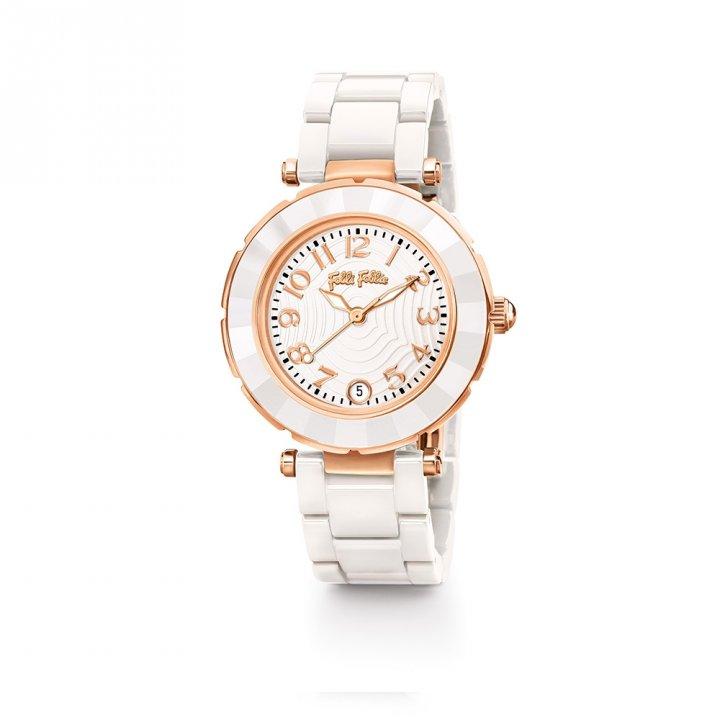 Folli Follie芙麗芙麗 Beautime 日期陶瓷腕錶