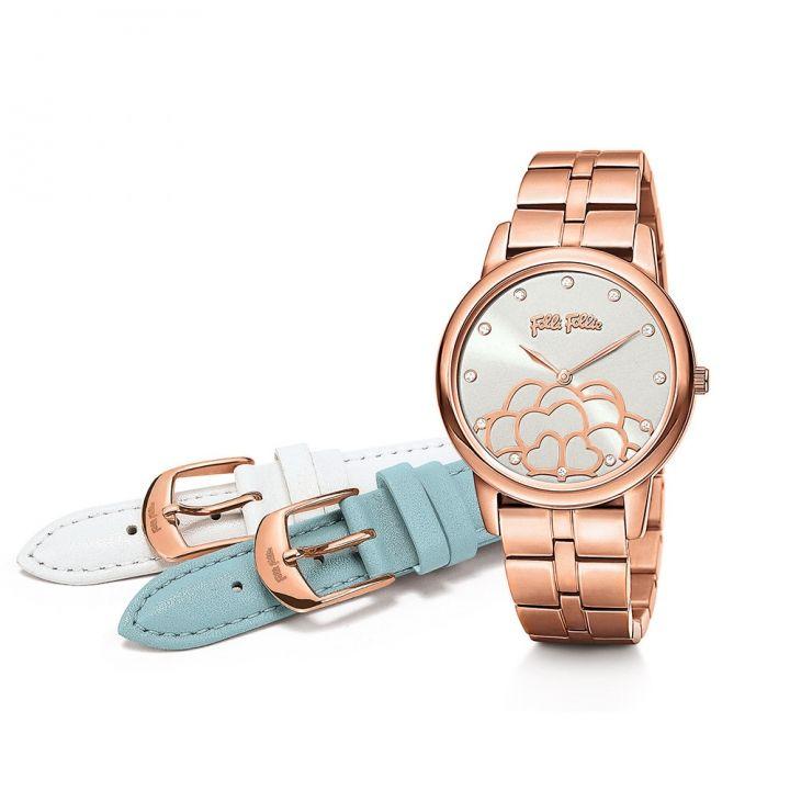 Folli Follie芙麗芙麗 Santorini Flower 腕錶套組-昇恆昌獨家