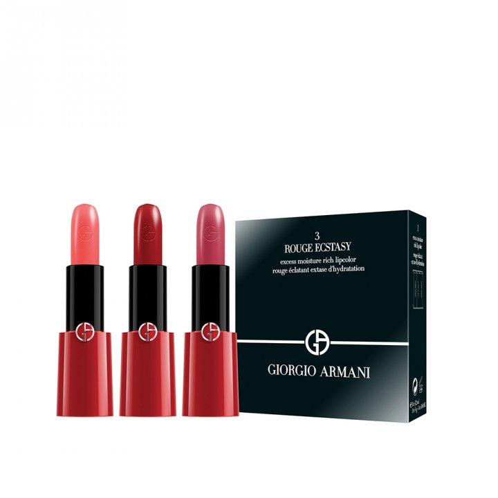 Giorgio Armani阿瑪尼 奢華訂製CC唇膏三支裝特惠組
