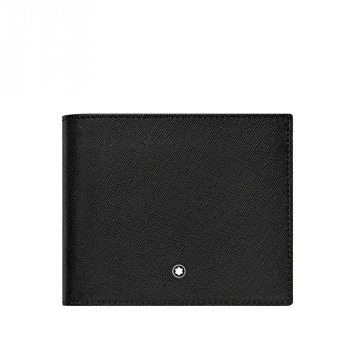 Montblanc萬寶龍(精品) SARTORIAL 8卡皮夾-黑