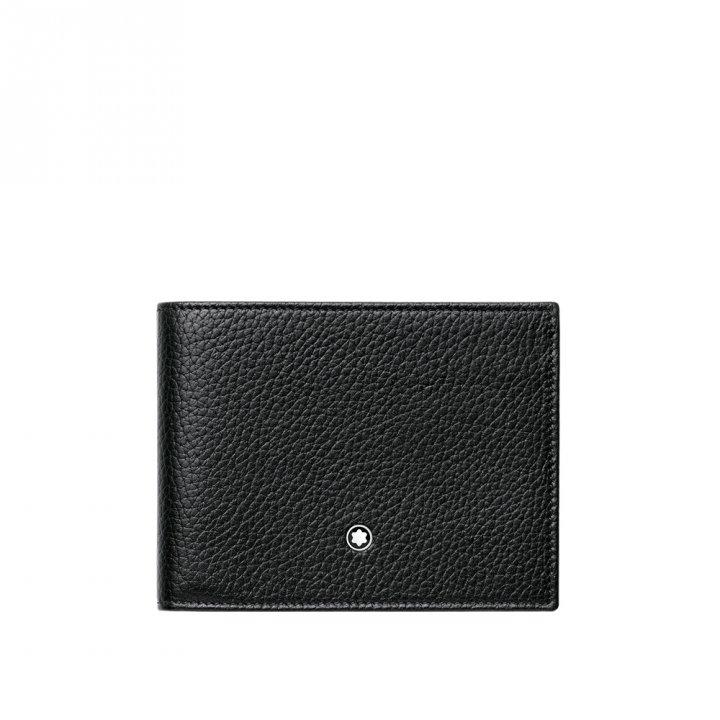 Montblanc萬寶龍(精品) 大班軟皮粒紋系列6卡皮夾